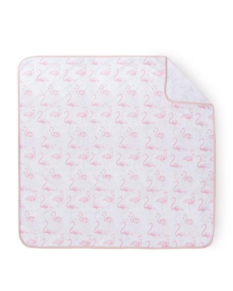 Flamingo Jersey Soft Stretch Blanket