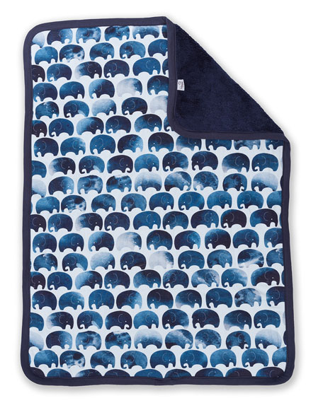 Elephant Jersey Cuddle Blanket