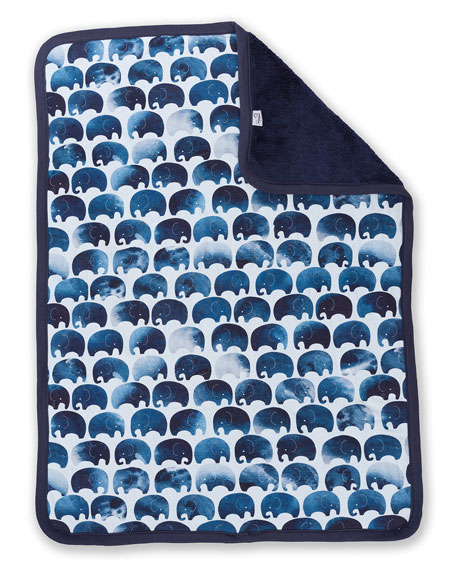 Elephant Jersey Cuddle Blanket and Moon Pillow