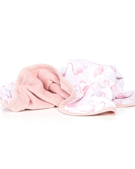 Flamingo Jersey Cuddle Blanket