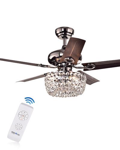 Angel Crystal Dome Chandelier Ceiling Fan