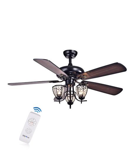 Mirabelle Lamp Post Chandelier Ceiling Fan