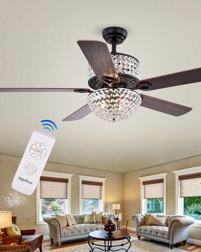 Prismatic Chandelier Ceiling Fan