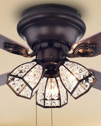 Antiqued Bronze Chandelier Ceiling Fan