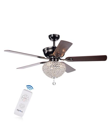 Dome Crystal Chandelier Ceiling Fan