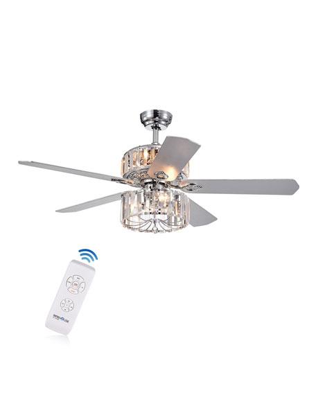 Ferris Crystal Baguette Chandelier Ceiling Fan