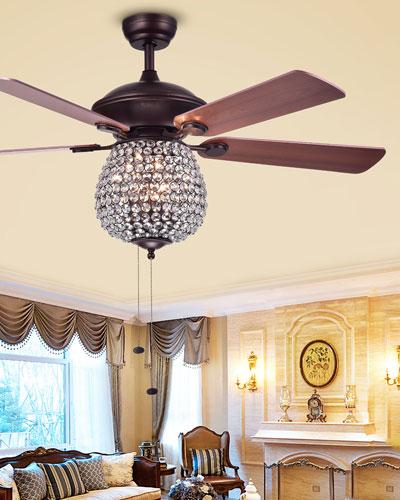 Embedded Crystal Chandelier Ceiling Fan