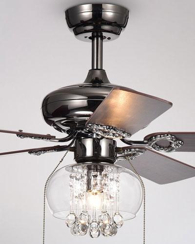 Aequor Crystal Drops Chandelier Ceiling Fan