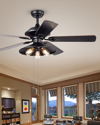 Edison Chandelier Ceiling Fan