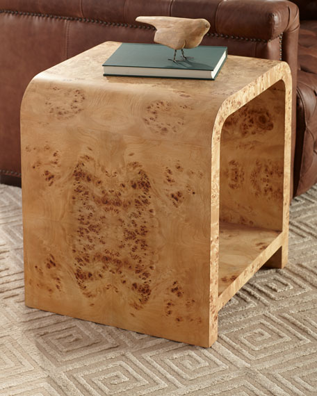 Harrison Two-Tier Burl Side Table