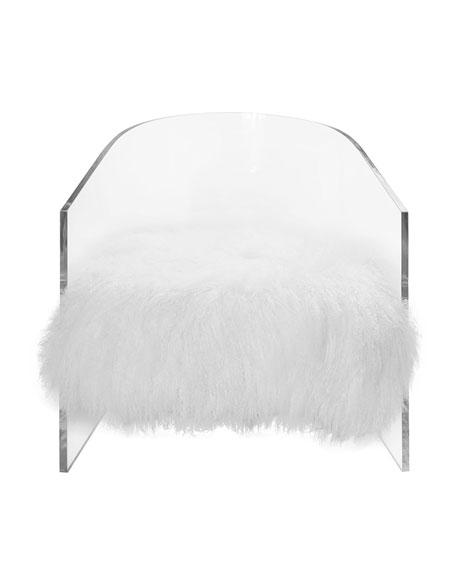 Barb Acrylic Barrel Chair with Mongolian Seat Cushion