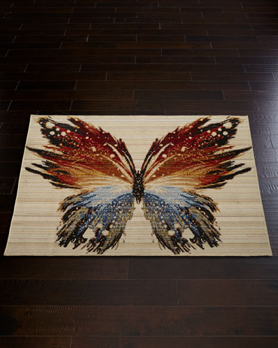 Skipper Butterfly Rug  3' x 5'
