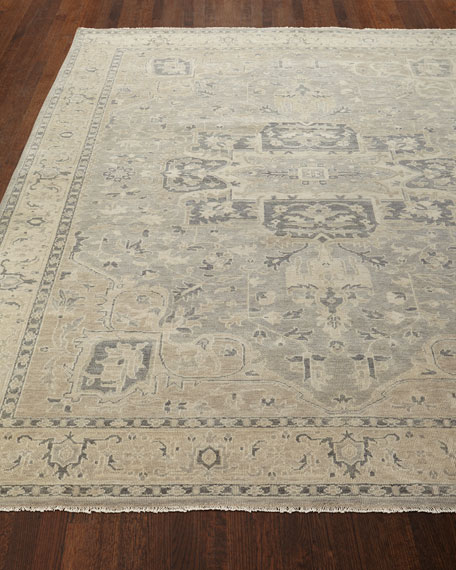 Bishop Hand-Knotted Rug, 3'9