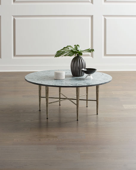 Hammered Nickel Coffee Table