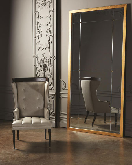 Beaumont Gold Leaf Floor Mirror