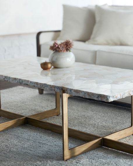 Jasmine Fossilized Clam Coffee Table