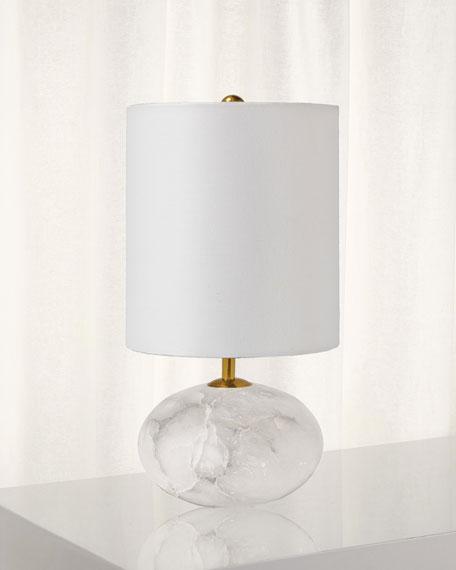 Alabaster Mini Orb Table Lamp