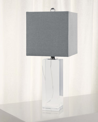 Crystal Block Table Lamp