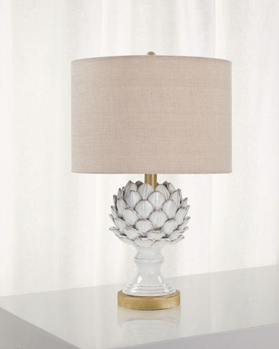 Leafy Artichoke Ceramic Table Lamp