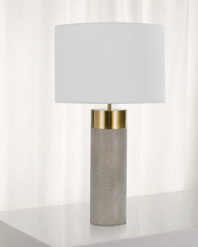 Harlow Shagreen Cylinder Table Lamp