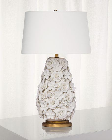 Alice Porcelain Flower Table Lamp