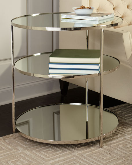 Percy Mirrored Side Table