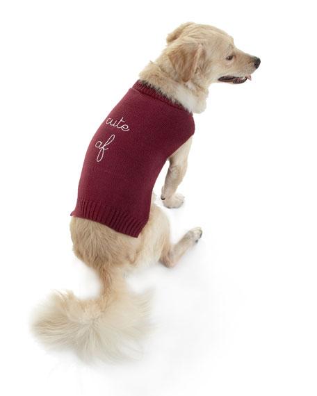 """Cute AF"" Dog Sweater"