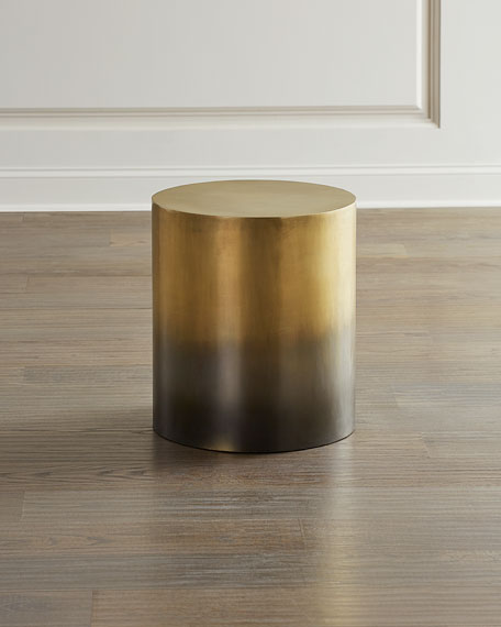 Lynlee Ombre Brass End Table