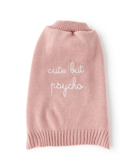"""Cute But Psycho"" Dog Sweater"