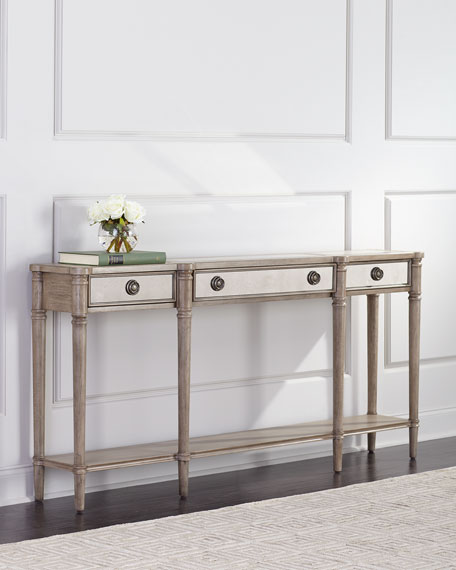 Alisa Mirrored Console Table