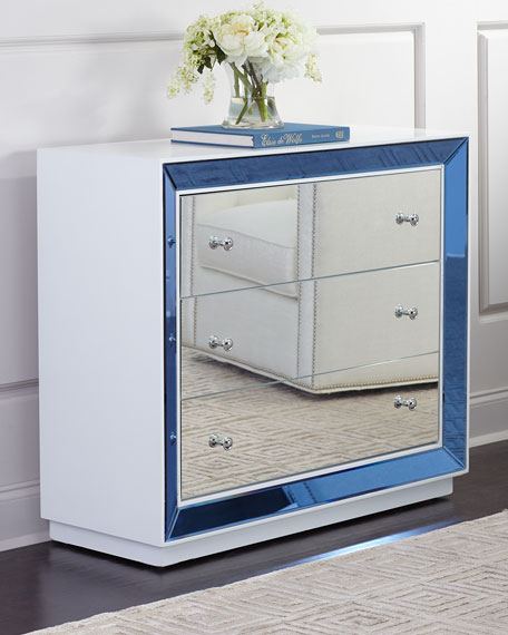 Maelee Mirrored 3-Drawer Chest