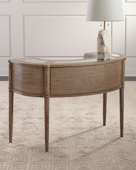 Alisa Antiqued Mirror Trim Writing Desk