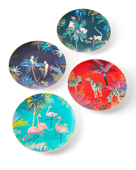 Assorted Side Plates, Set of 4