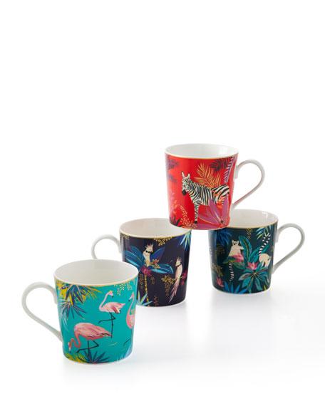 Portmeirion Assorted Mugs, Set of 4