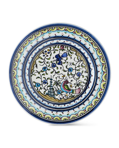 Pavoes Blue and Green Salad Plates  Set of 4
