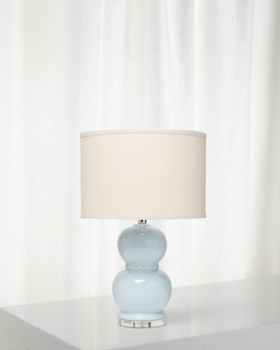 Bubble Ceramic Table Lamp  Starlight Blue