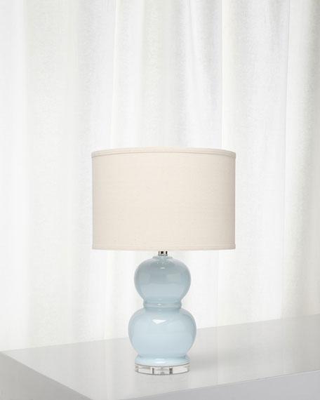 Bubble Ceramic Table Lamp, Starlight Blue