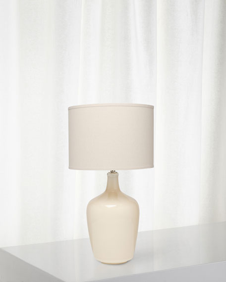 Plum Jar Table Lamp, Winter White