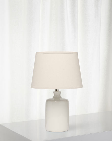 Milk Jug Table Lamp, Winter White