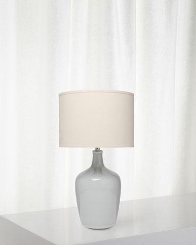 Plum Jar Table Lamp  Gray Violet