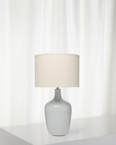 Plum Jar Table Lamp, Gray Violet