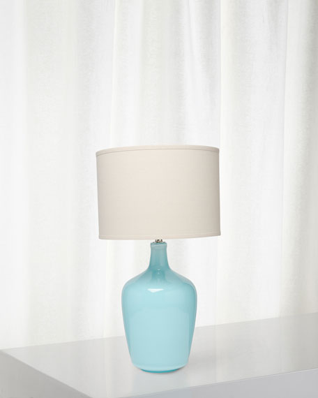 Plum Jar Table Lamp, Starlight Blue