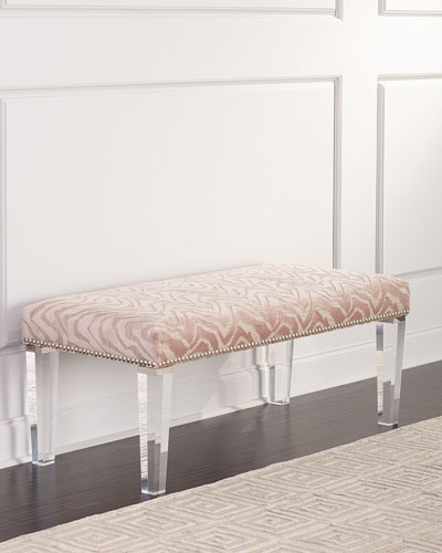 Pantone Bench with Acrylic Legs