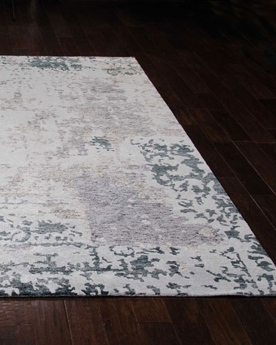 Krystal Hand-Knotted Rug  3.9' x 5.9'