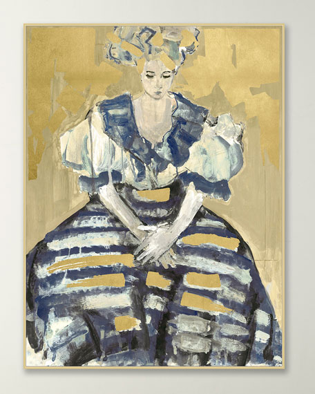 """Lady in Stripes"" Giclee Art Canvas"