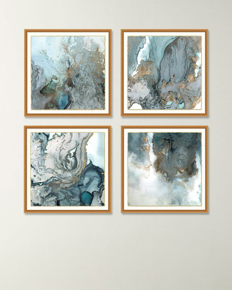 """Balance"" Giclee Canvas Art, Set of 4"