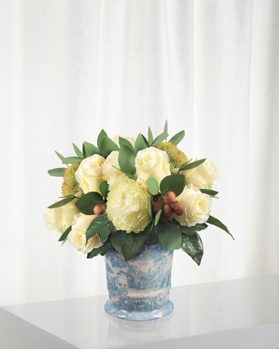 Rose Bouquet in Flared Cache Pot