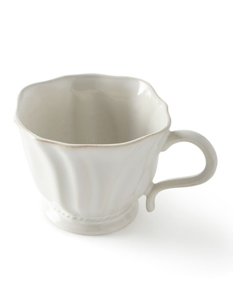 Juliska Madeleine Whitewash Coffee/Tea Cup