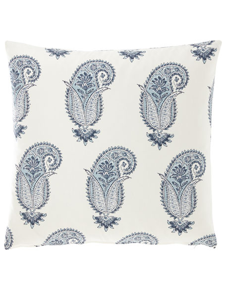 "Medium Paisley Print Pillow, 20""Sq."