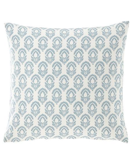 "Floral Pillow, 20""Sq."